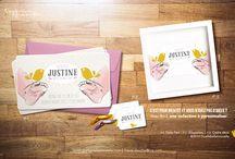 Baby Birth Announcement Cards - Collection - / Quelle Belle Nouvelle propose des Collections à personnaliser. Quelle Belle Nouvelle also offers various and wide collection.