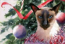 =^.^= Cats Love Christmas too! =^.^= / by Michele McKenzie Bobbitt