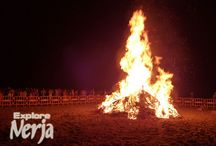 Festival of San Juan in Nerja  / The yearly event of the festival of San Juan is a popular one in Nerja with camping allowed on selected beaches and organized events taking place on Burriana beach.