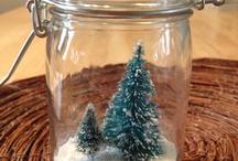 Simple DIY / http://www.barelymeasured.com/2012/11/make-tree-snow-globe.html
