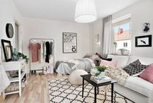 small space living / Decorating ideas and organizing tricks for apartment-dwellers. Find space-saving solutions and creative arrangements to make the most of your tiny apartment.