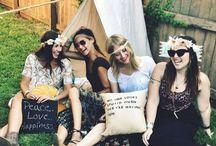 Party set up idea - hippy