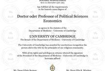 Ehrendoktorwürde kaufen, Cambridge Diplom
