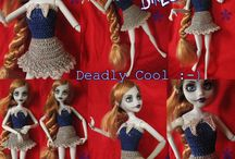 Zombie Princess crochet patterns / Zombie Princess doll crochet patterns: clothes and accessories