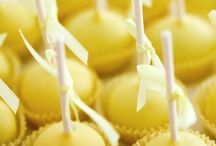 Baby shower lemon yellow