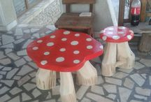 masuta -scaun ciuperca