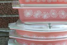 Pyrex, cake stands, and tea cups / by Natalie Edwards