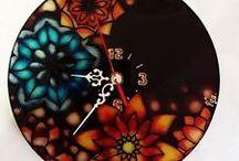 Glasmalen Uhr / Glasmalen, Glaspainting, Glasmalerin Orsolya Gabriella Vadasz, Vog Art Galery,