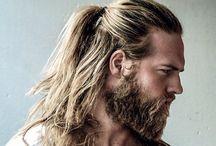 Cabelo, barba e maquiagem