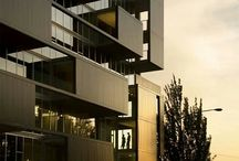 Commercial buildings / Interior and exterior details of commercial buildings. Inspiration for colour and finish selection.