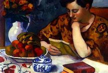 women reading or writing or drawing / by K Huntington