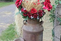 Red roses decorations
