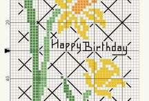 X-stitch Birthday