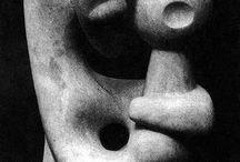 SCULPTURES , STONE , WOOD , BRONZE . / SCULPTURES / by Jean-Louis Glorieus