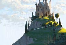 Замки, крепости, города