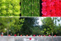 Ściany z kwiatow
