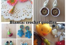 Bianca: crochet goodies / Hand made crochet line. First presentation: EARRINGS