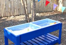 Wooden water play table diy