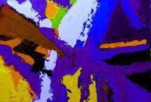 violet symphony / Bacheca di arte informale