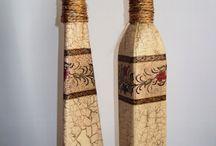 garrafas douradas