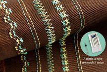 Twin needle patterns