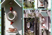 Vogelhaus, Futterhaus, Futterstation / Kreativ sein mit ausgefallenen Materialen, Z.B. Teekanne