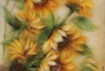 kwiaty z filcuk