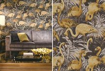 Our favourite designer wallcoverings / A collection of our favourite wow wall coverings. The wallpapers that we have selected include stunning textures, crazy prints and bold designs.