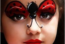 Ladybird face painting