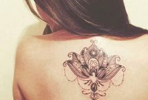 Lotus kukka tattoo