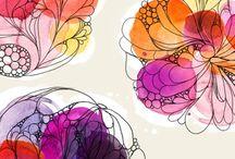 Art, painting, fonts, illustration