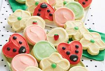 Ladybug Collection / These buttercream frosted lady bug cut-out cookies are sure to be a welcome guest at any picnic!
