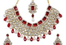 Dazzling Indian Bollywood Kundan Bridal Jewellery Set