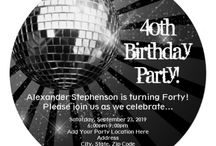 "40th Birthday Party Ideas / 40th Birthday party ideas for themes, decorations, gift ideas, invitations and more over the hill ideas. If you'd like to join this group board, please... 1) follow me, 2)follow this board, then 3) add a comment ""Add Me"" to the most recent pin. Thanks!"