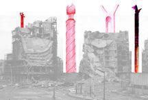 """Di_segni // sketch for Syria / """"Sketch for Syria"""" è un appello agli architetti di tutto il mondo, a cui IUAV ha distribuito taccuini da disegno, dove immaginare e tracciare possibili scenari per la ricostruzione. Il valore positivo dell'iniziativa è la consapevolezza che la ricostruzione inizia quando si pensa al futuro in termini positivi, di pace. La mostra è curata da Jacopo Galli con Luna Rajab e allestita da Marco Ballarin e Jacopo Galli. http://www.domusweb.it/it/notizie/2017/01/17/iuav_sketch_for_syria.html"""