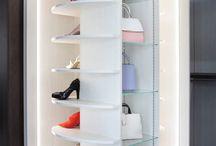 Revolving Shoe Storage / Unique wardrobes revolving shoe solution