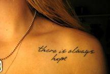 Tetování, nápisy