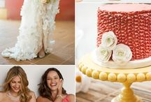 WEDDING | coral & yellow