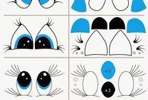 kreslené oči