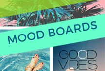 Mood Boards / Mood board inspiration for your next web design project. Aesthetics, colors, feels, and vibes.