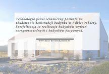 """Technologia Keramikplatte Informacje / Technologia Keramikplatte dedykowana jest Producentom domów szkieletowych oraz Deweloperom i Inwestorom indywidualnym, którzy chcieliby spowodować by dom szkieletowy posiadał cechy technologii ceramicznej (!) - a nie technologii szkieletowej lekkiej (tzw. """"kanadyjskiej"""" lub """"szwedzkiej"""")."""