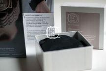 Brand Identity / #Product & #BrandIdentity #Design #bracelet #3dprinted #3dprinting #3dprintedbracelet #braceletdesign #plastic #abs #yellow #black #white #rose #layers #stratosferi #strati #identity #graphics #packaging #labels #stickers #logo #brand