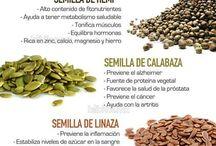 Semillas y plantas salud