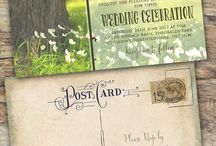 wedding invitations rustic vintage spring / Invitations