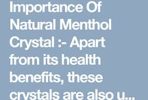 A-Menthol Crystals Manufacturers / Contact K. M. Chemicals at: http://www.kmchemical.com/menthol-crystals.html, a foremost Menthol Crystals Manufacturers suppliers exporters in India offer all kinds mint product at affordable rates.