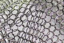 alphamesh metal mesh / shiny metal mesh architecture interior design