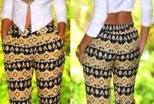 African Print / Trendy outfits using African material.