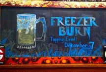 Craft Beer / Our talented artists bring our craft beer to life on our blackboards!
