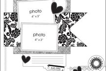 Sketches for LO/Скетчи для страничек / Scrapbooking sketches for layouts