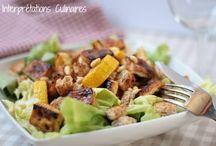 vegan salads & slaw  / by Mary Vu